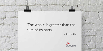Aristotle Quote Whole is Greater than the sum of its parts Penquin CI