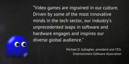 Michael Gallagher Quote: Videogames are ingrained in our culture.