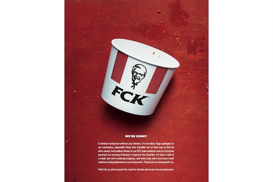 KFC - FCK print ad