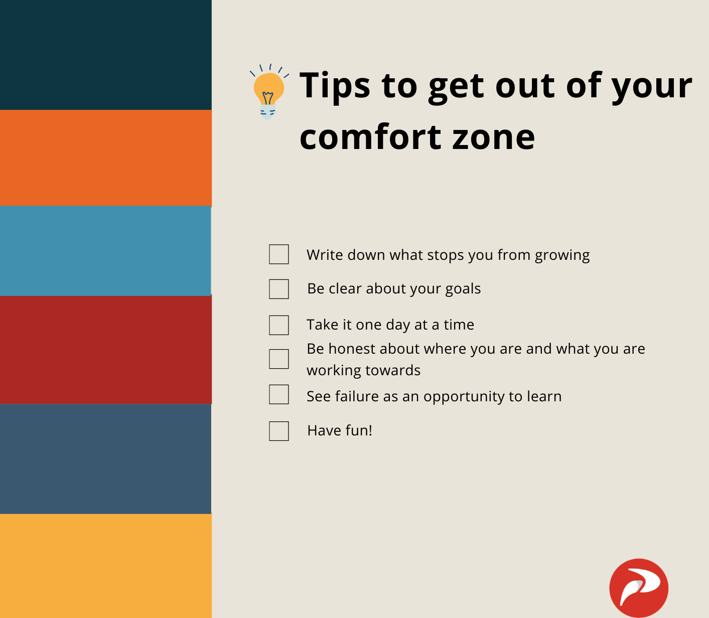 Tips to get out of your comfort zone