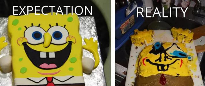marketing expectations vs reality