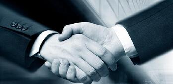 trust shaking hands greyscale