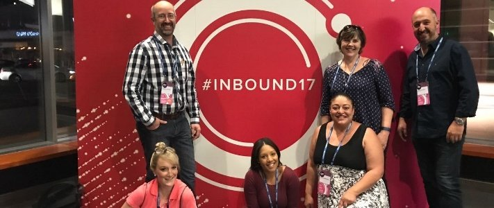 Inbound marketing team at INBOUND17